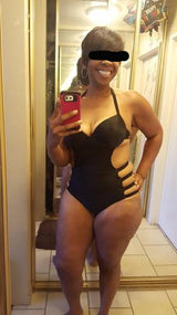 Plus Size Black One Piece Swimsuit Swimwear Bathing Suit 5xl