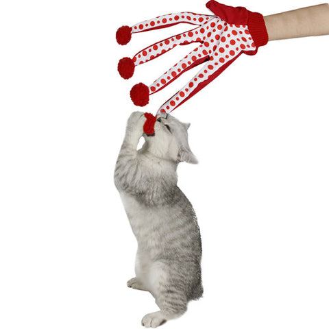 Polka Dot Cat Scratch Glove - Cat Toy - I Sell Goods - 1