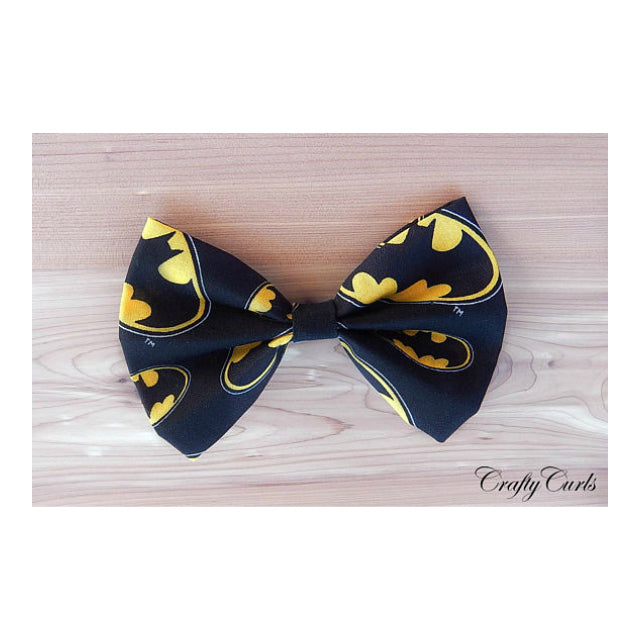 Handmade Hair Bow - Bat Girl
