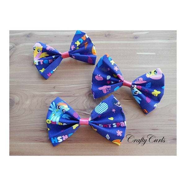 Handmade Hair Bow - My Little Pony