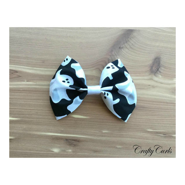 Handmade Hair Bow - Halloween Ghost