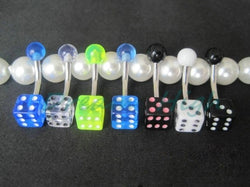 100 Piece Multi-Color Dice Belly Button Ring (Lot)