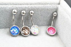 50 Pc Glitter Belly Button Ring (Lot)