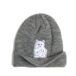 Cat Lovers Wool Knit Beanie