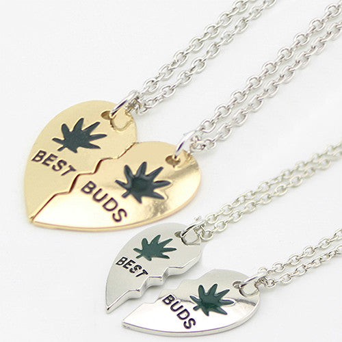 Cool Leaf Loving Heart Pendant Chain - Just Pay Shipping