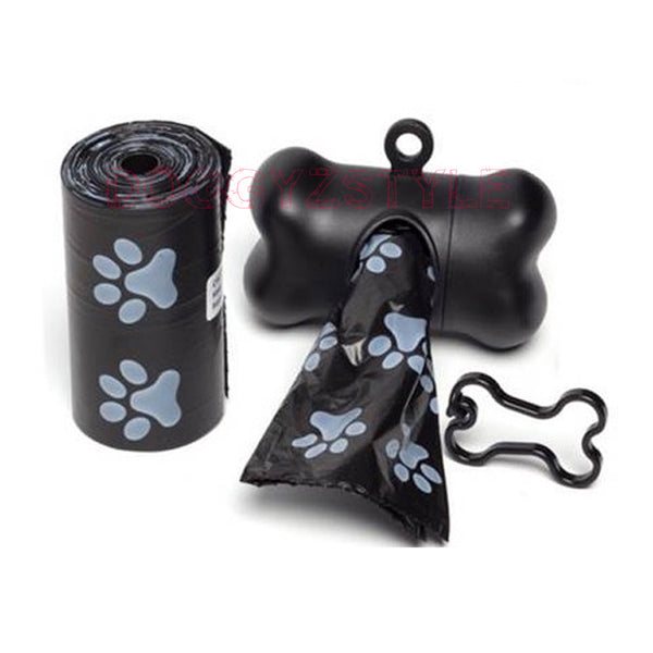 1 Roll Dog Poop Bag + 1PC Bag Dispenser