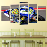 Honda Moto Racer Wall Art Canvas - 5 Panels
