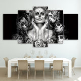 Dia De La Muerte Wall Art Canvas - 5 Panels