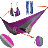 Hanging Sleeping Hammock Bed (Parachute Nylon Fabric)