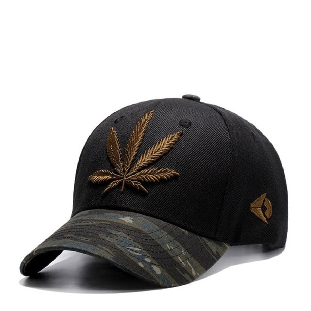 High Quality Canna-bis Leaf Embroidered Baseball Cap