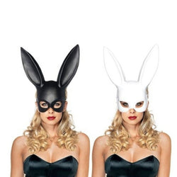 1 PC Rabbit Ear Mask - Black or White
