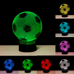 Acrylic 3D Illusion LED Lamp - Soccer Ball