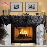 Cobweb Fireplace/Door Black Lace Spider Web