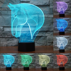Acrylic 3D Illusion LED Lamp - Horse Head