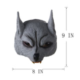 Half Face Wolf Halloween Mask