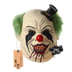 Latex Scary Black Hat Clown Mask