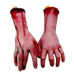 Life-Sized Bloody Human Forearm Hand Halloween Prop
