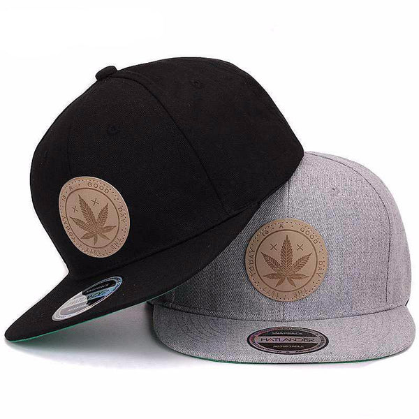 Solid Color Cotton Snapback Flat Brim Cap