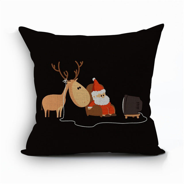 Christmas Holiday Themed Pillow Covers