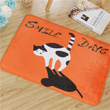 Animal Print Flannel Floor Mats