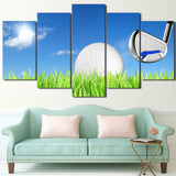 Golf Club Golf Ball Wall Art Canvas - 5 Pieces