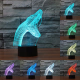 Acrylic 3D Illusion LED Lamp - Snake