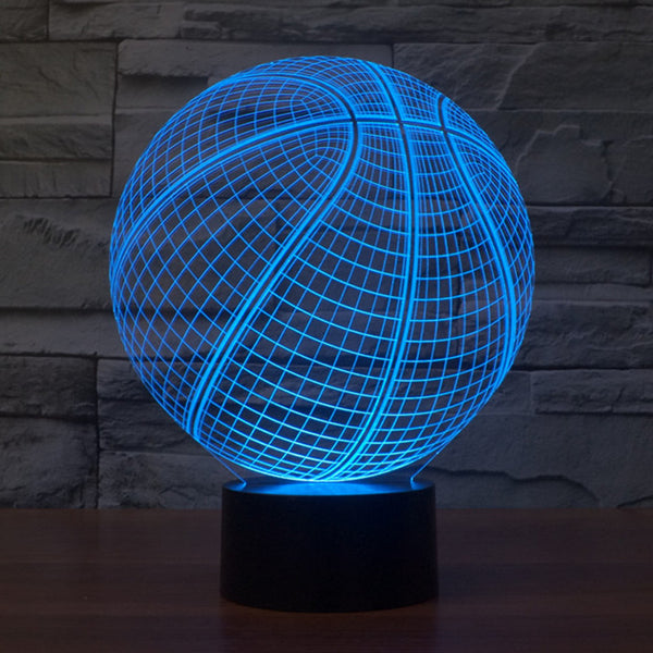 Acrylic 3D Illusion LED Lamp - Basketball