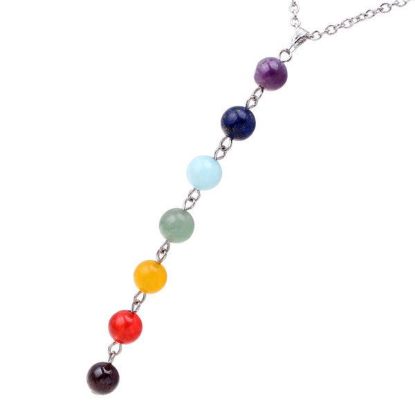 Special Offer 22inch Chakra Themed Tassel Pendant Necklace