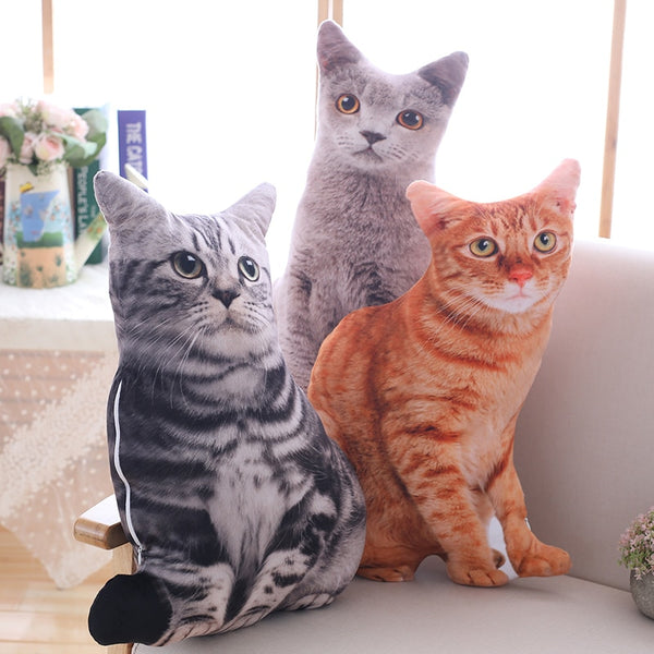 Soft Plush Cat Pillows