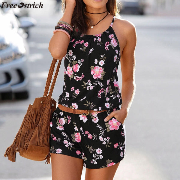 Summer Casual Sling Short O-Neck Romper
