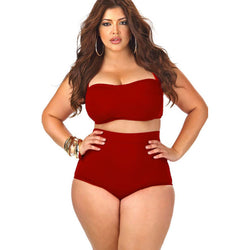 Plus Size Push Up Bikini - High Waist - 3 Colors - 2XL/5XL - Bikini - I Sell Goods - 1