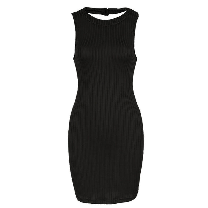 Stripped Halter BodyCon Dress - Mini - Club Party Dress (3 Colours) - BodyCon - I Sell Goods - 5