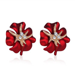 Beaufiful Clover Starfish Ear Studs - Earrings - I Sell Goods - 1
