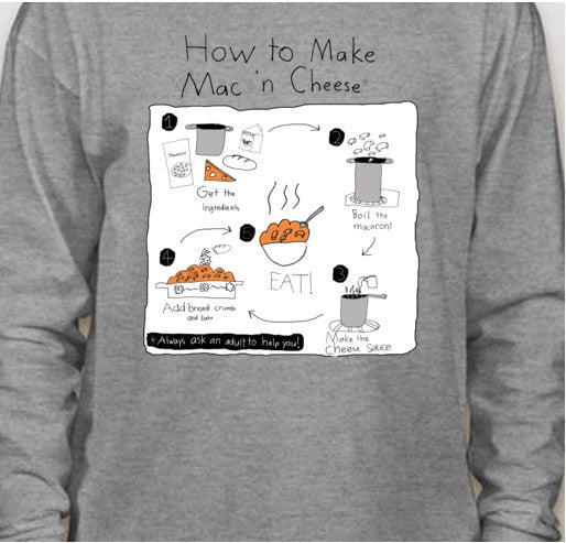 """How to Make Mac 'n Cheese"" Graphic Tee"