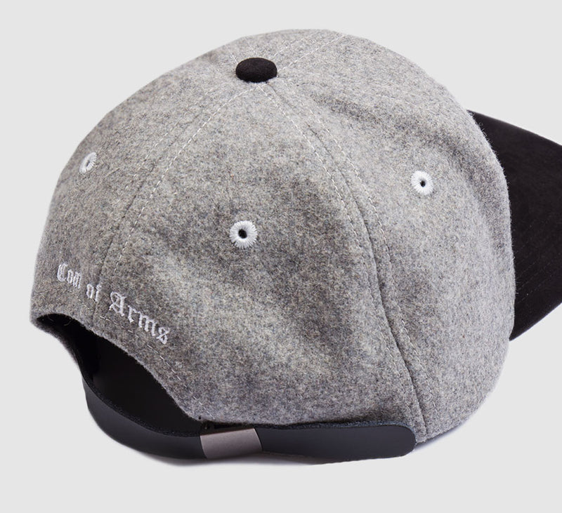 COA Monogram Hat in Grey Wool