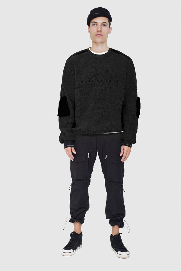 Tech Sherpa Crewneck - Black