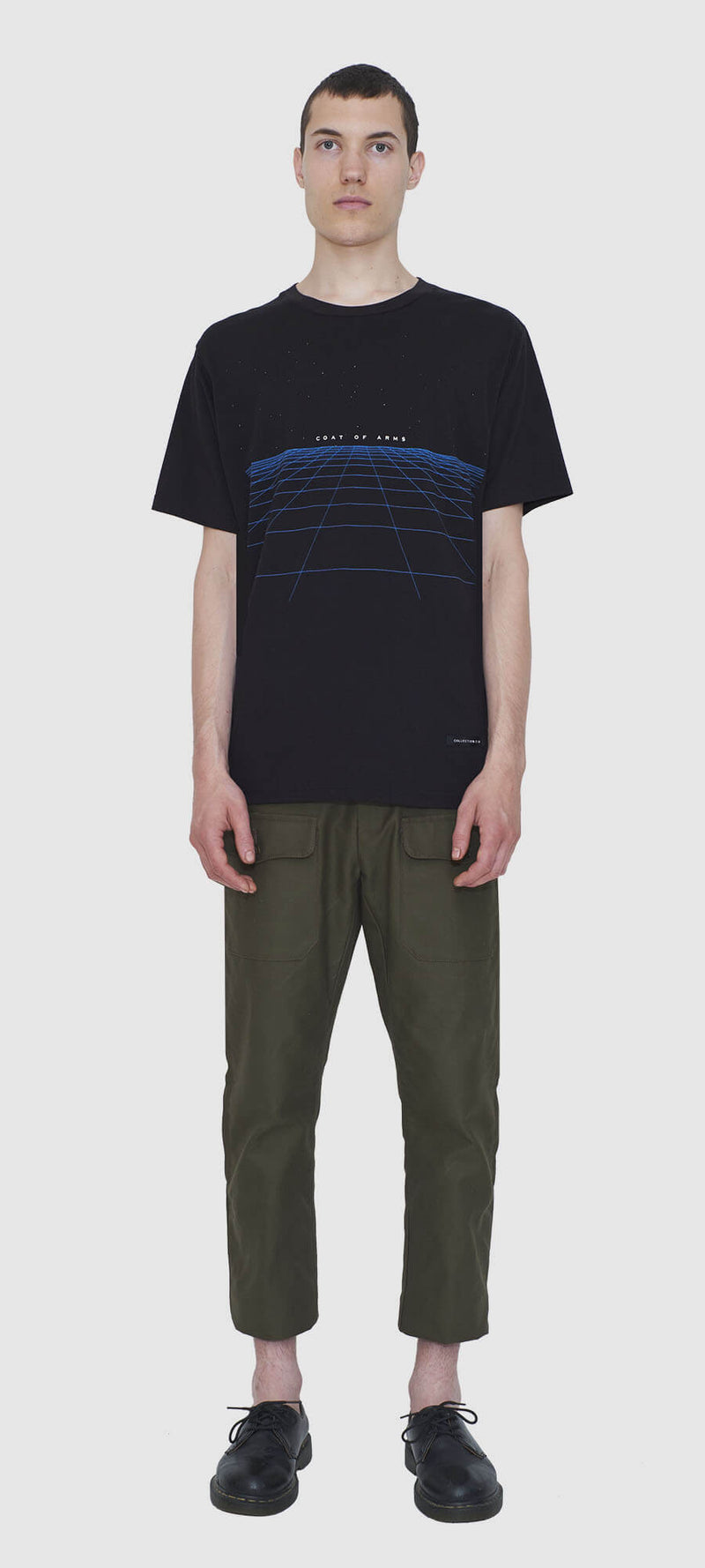 Black CyberGrid T-Shirt