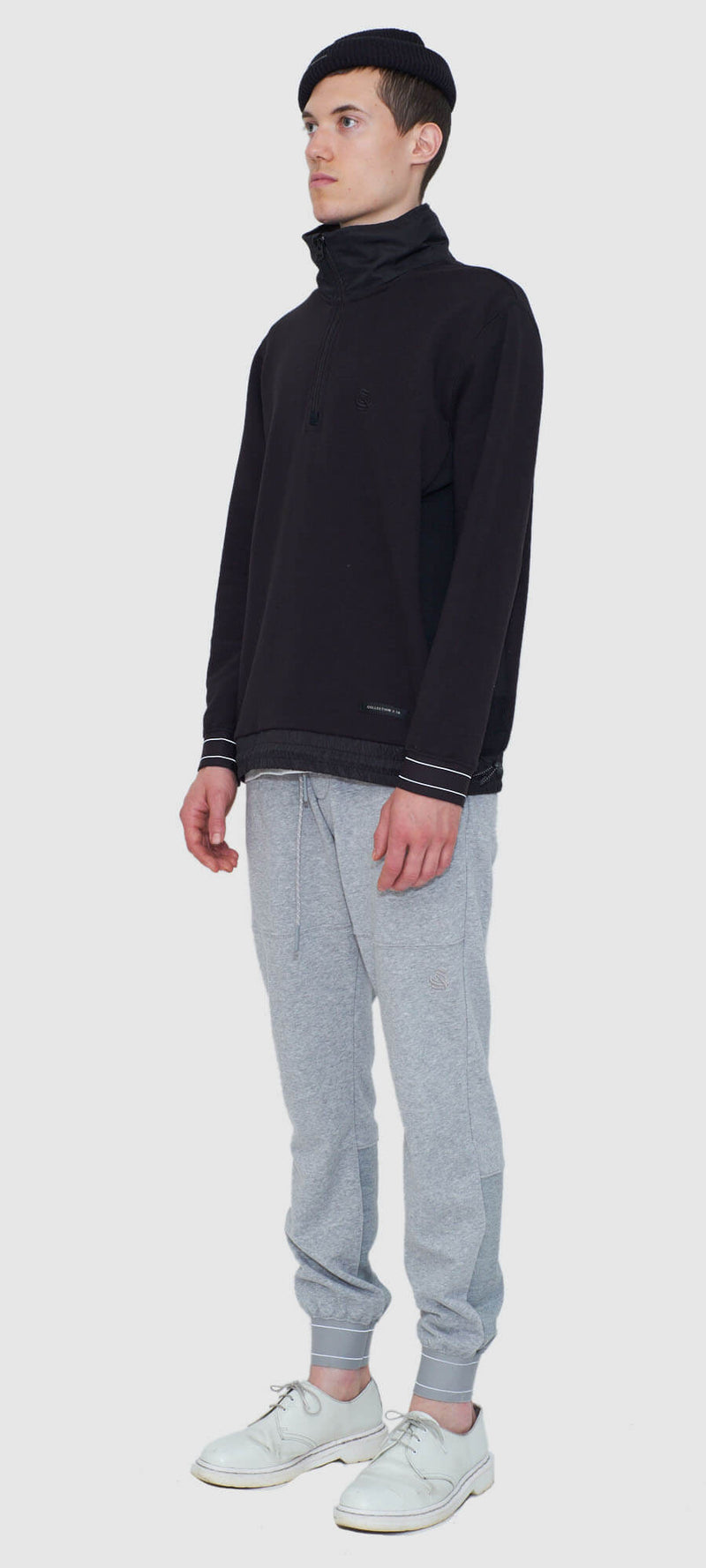 Technical Mock Neck Pullover