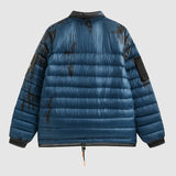 Navy Tie Dye Puffer - Packable Airplane Pillow