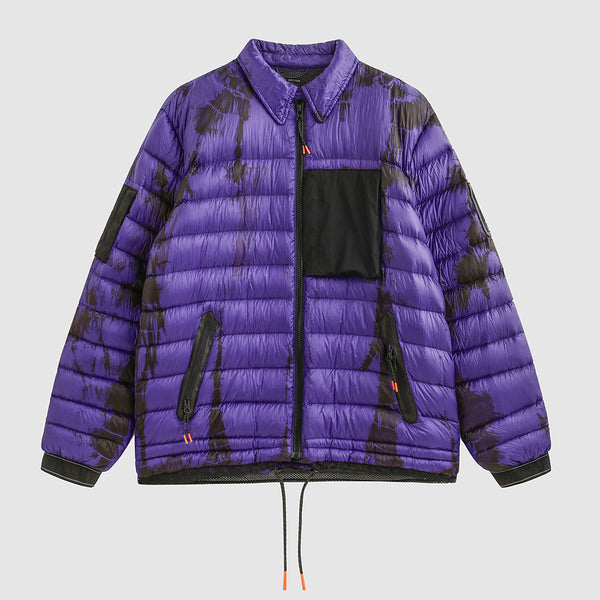 Purple Tie Dyed Puffer