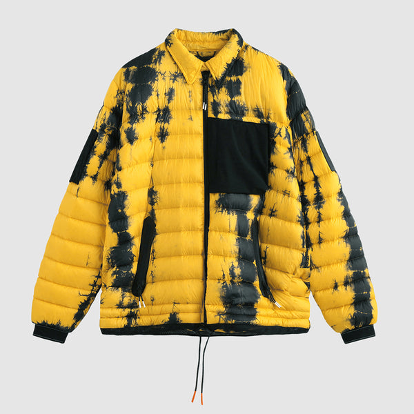 Yellow Tie Dyed Puffer