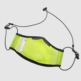 Neon Yellow Polyurethane Face Mask with Mesh PM2.5 filter