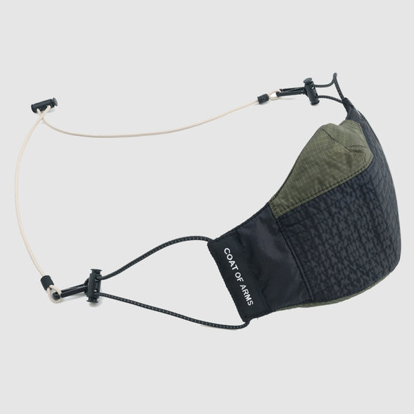 Nylon Ripstop Face Mask - Black