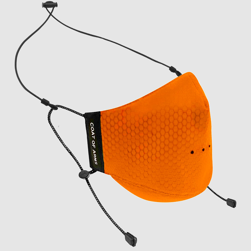 Cordura Hexagon Ripstop Face Mask - Orange