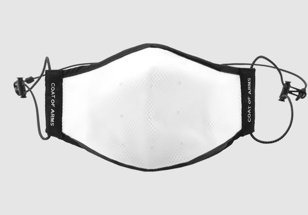 White Polyurethane Face Mask with Mesh PM2.5 filter