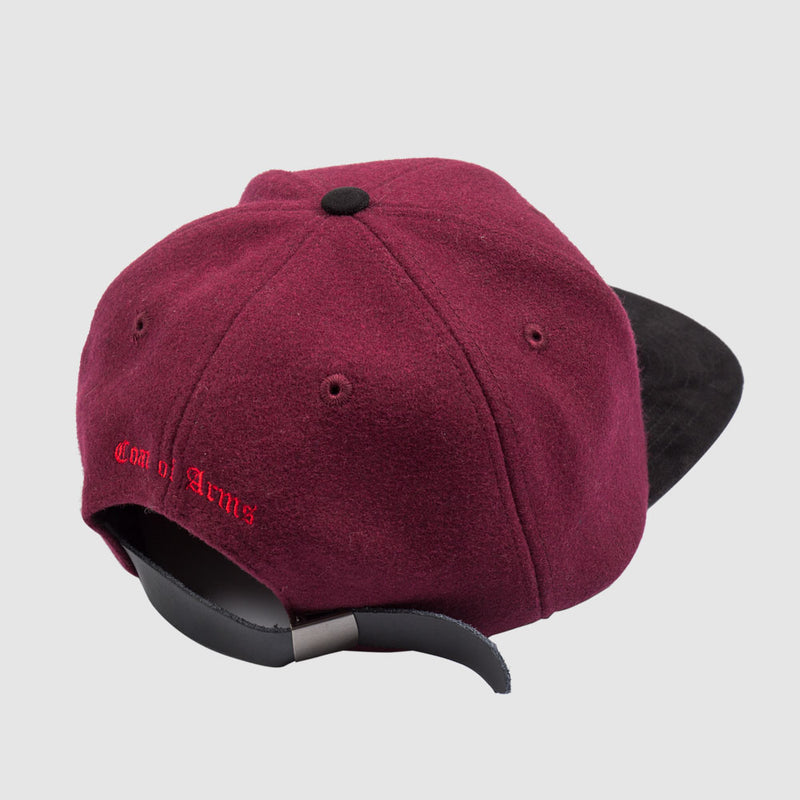 COA Monogram Hat in Wine Wool