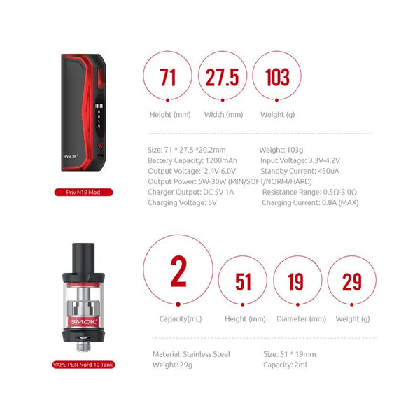 Smok Priv N19 available at theravape winnipeg manitoba canada