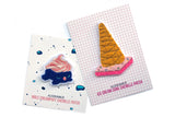 Ice Cream Cone Chenille Iron-On Patch