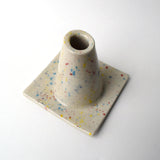 Pastel Splatter Glazed Traffic Cone Ceramic Vase