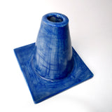 Royal Blue Glazed Traffic Cone Ceramic Vase